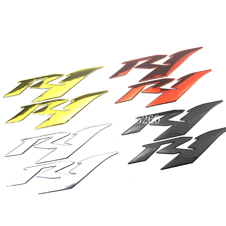 Motorcycle Sticker 3D R1 case for YAMAHA YZF1000 R1 1998-2014 LOGO Badge 1999 2000 2001 2002 2003 04 05 06 07 08 09 10 11 12 13