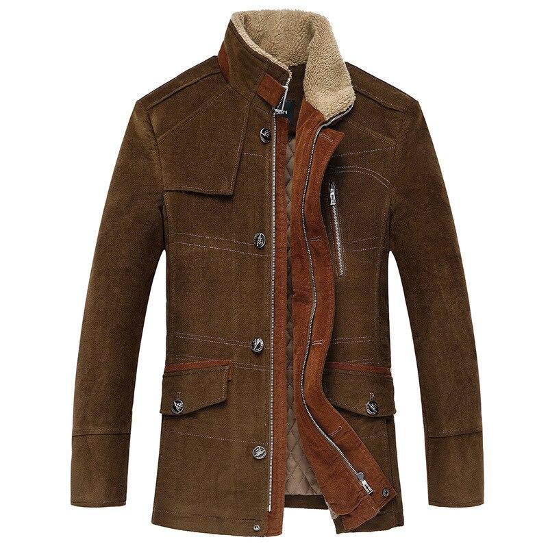 Hiver épaissir manteaux Classiques pour hommes Veste en laine de haute qualité décontracté trench hommes hommes Coupe Vent, taille M à 6XL, 7XL - 2
