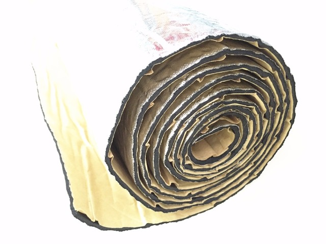 1 Unids 30 cm x 100 cm Coche Motor Del Tronco Sonido y Aislamiento de Calor del papel de Aluminio de 12 ''x 40'' estera Resistencia Anticorrosivo Resistente A Los Arañazos