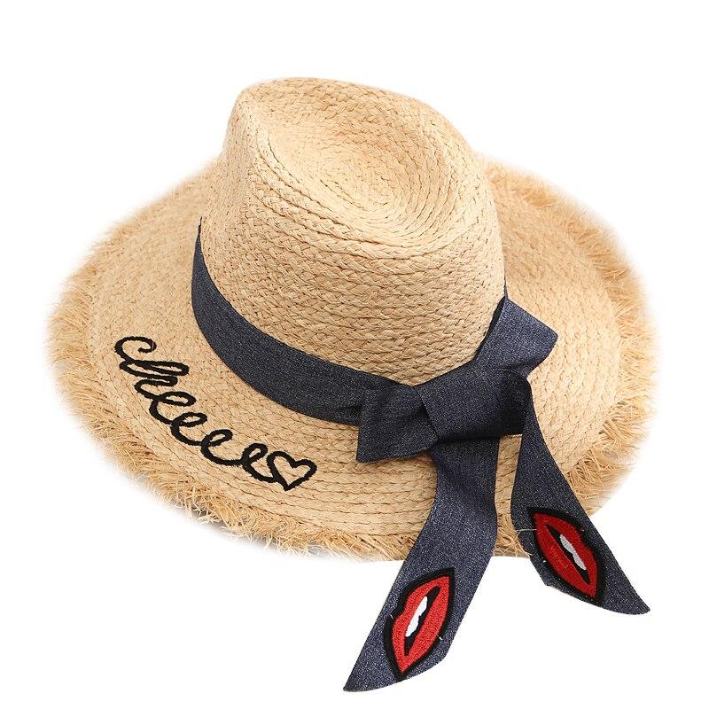 2018 sombreros de Sol de rafia hechos a mano para mujer sombrero de playa sombrero plegable verano mujeres al aire libre sombrilla sombrero de paja