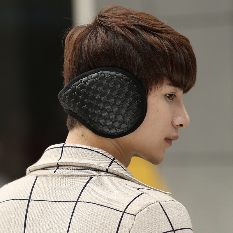 New Fashion Men Earmuffs Winter EarMuffs Coral Fleece Thick Warm Ear Warmer Men Ear Muff  Winter Accessories For Man