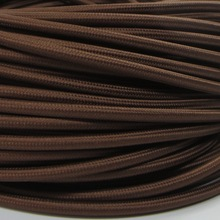 10 meters brown color 2 core 075mm2 textile electrical wire color braided wire fabric covered electrical power cord wire cable
