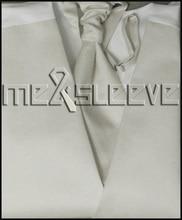 hot sale  Men's new plain light ivory waistcoat wedding dresses(vest+ascot tie+cufflinks+handkerchief)