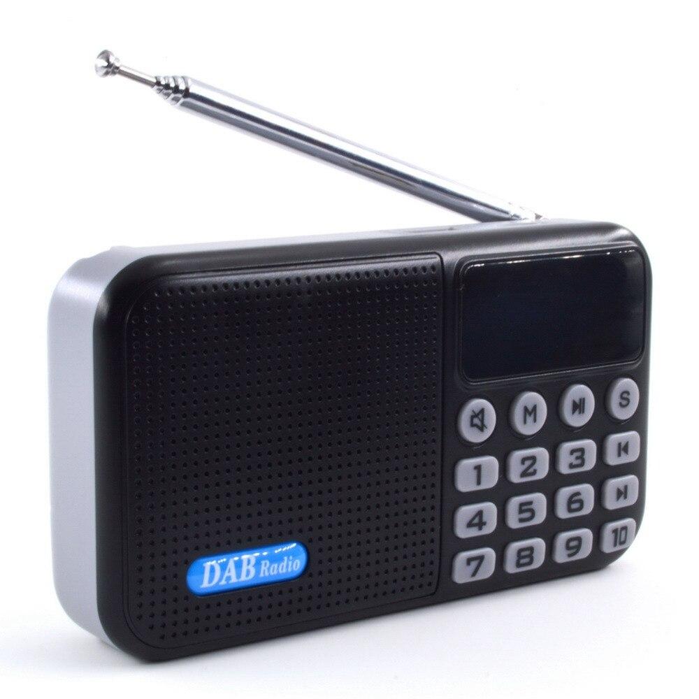 Multi-fonction Portable DAB + Radio Numérique Récepteur Bluetooth Haut-Parleur FM Radio MP3 Musique Lecteur Noir