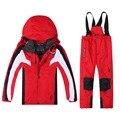 2016 Nuevo Estilo de la Alta Calidad de Poliéster Abrigo Con Capucha y Pantalón de Esquí Chaqueta de Snowboard Unisex Con Logo Araña
