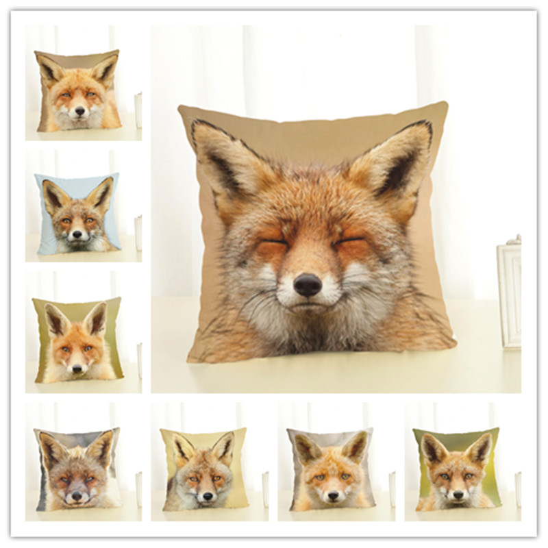 Fox  Style   45*45cm Square Home Decorative Pillow Music Note Printed Throw Pillows Car Home Decor Cushion Cojines