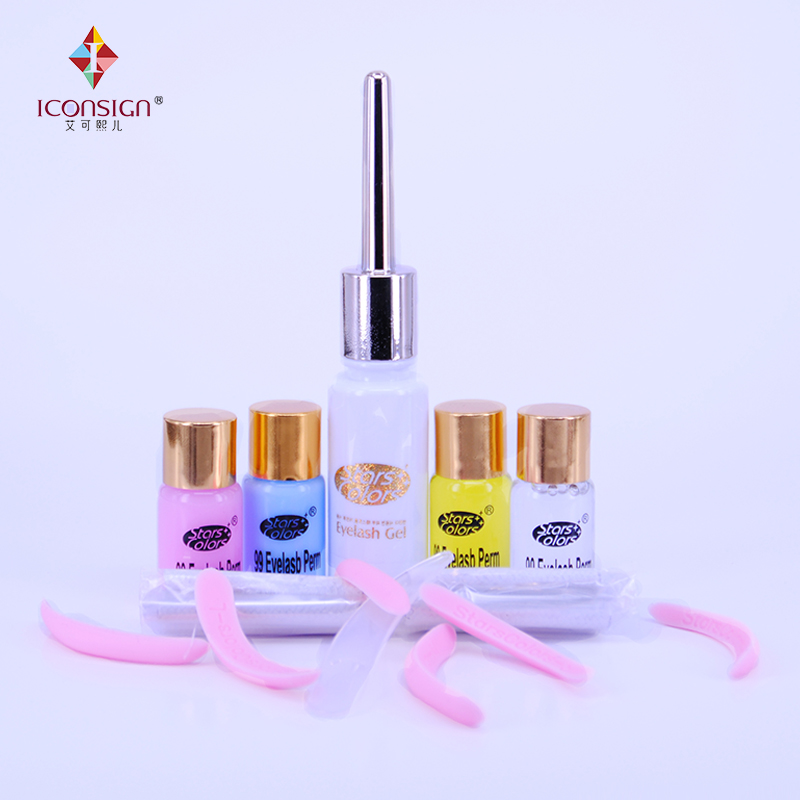 ICONSING Professional 5 sets Salon beauty perm lotion for eyelash extension perming kit Perm Fixing Nutrition