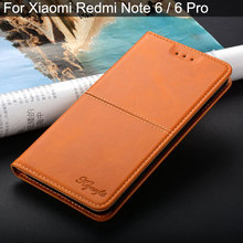 Case for xiaomi redmi note 6 pro luxury Vintage Leather funda Flip cover coque with Stand Card Slot for xiaomi redmi note 6 case