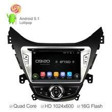 1024*600 del Androide 5.1 GPS Del Coche unidad Principal Para Hyundai Elantra Avante I35 2011-2013 Quad Core 1.6 Ghz GPS Radio USB Ipod de 16 GB Nand