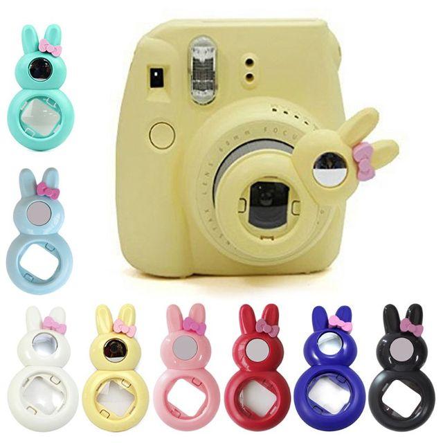 יפה ארנב מקרוב עדשה Selfie עצמי דיוקן מראה עבור Fujifilm Instax מיני 9/8/8 +/ 7s מיידי סרט מסנני צילום Fil