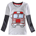 top children clothes nova 2015 newest design 100% cotton long sleeve with patten boy t-shirt fashion autumn spring high quality