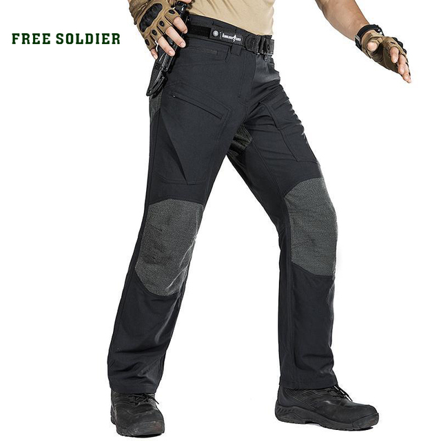 06fa865e1884 FREE SOLDIER Outdoor sports tactical military cargo pants men s trousers  wear resistant pants for camping hiking-in Hiking Pants from Sports    Entertainment ...