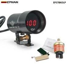 С ультратонкой оправой 37 мм микро цифровой курил масляный Манометр Универсальный 4-6-8 cylineder двигатели Сенсор NTP 1/8 для BMW 5-Series EP37BKOLP