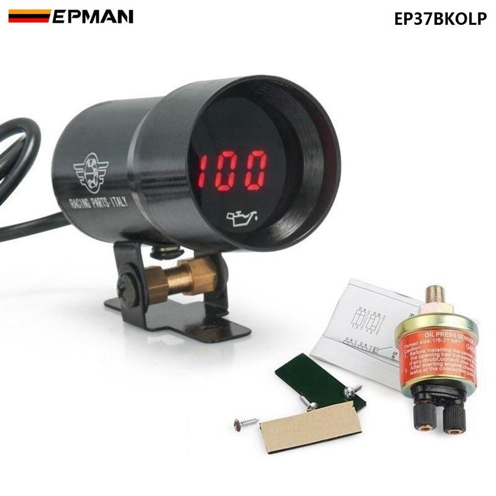 37mm Micro Digital Smoked Öl Manometer universal 4-6-8 Cylineder Motoren Sensor NTP 1/8 Für BMW 5-Serie EP37BKOLP