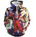 Homens Mulheres Harajuku Moletom Com Capuz Anime Dragon Ball Z Goku/Vegeta/Cell/Piccolo Impressões 3D Hoodies Pullovers moletom