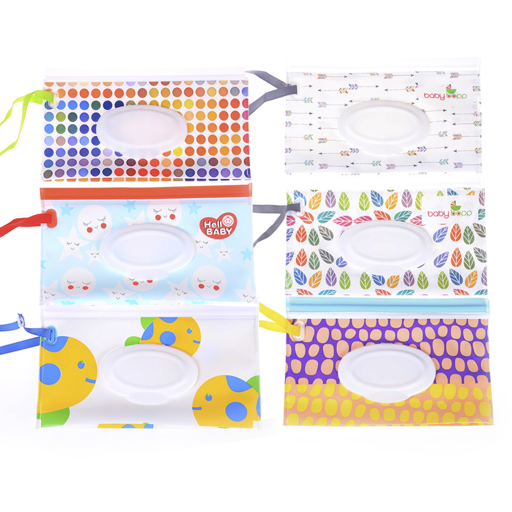 Sporting Quaslover Eco-friendly Baby Wipes Box Wet Wipe Box Cleaning Wipes Carrying Bag Clamshell Snap Strap Wipe Container Case Nappy Changing Changing Pads & Covers