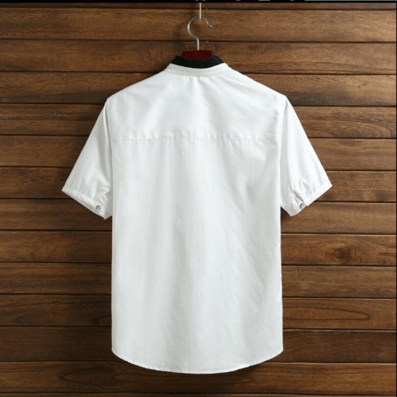 Taille Styliste 2018 Nouveau Vêtements Coloration Hommes Costumes Plus La Col Individuel Originale Chanteur De Blanc Cheveux Micro Gd Mode Chemise papfq