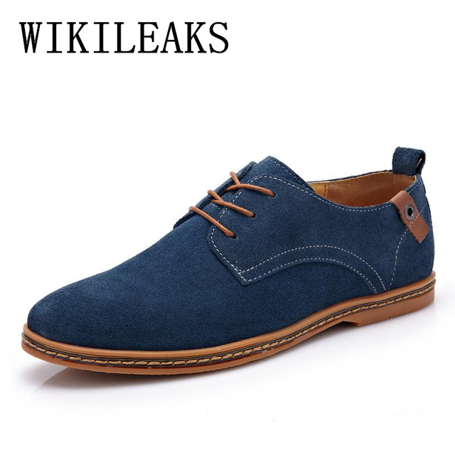 Formal Oxford Leather Homme Dress Marque Chaussure For Heren De Shoes Genuine Pointed Mens Men Schoenen Toe Suede BqC7B