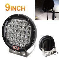 9inch Rounded 160W 32x LED Car Worklight Spot / Flood Light Vehicle Driving Lights for Offroad SUV / ATV / Truck / Boat