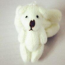 50 шт./лот 3 см тедди медведь мультфильм букет кукла плюшевые суставы голый плюшевый медведь кукла мини-медведь кукла
