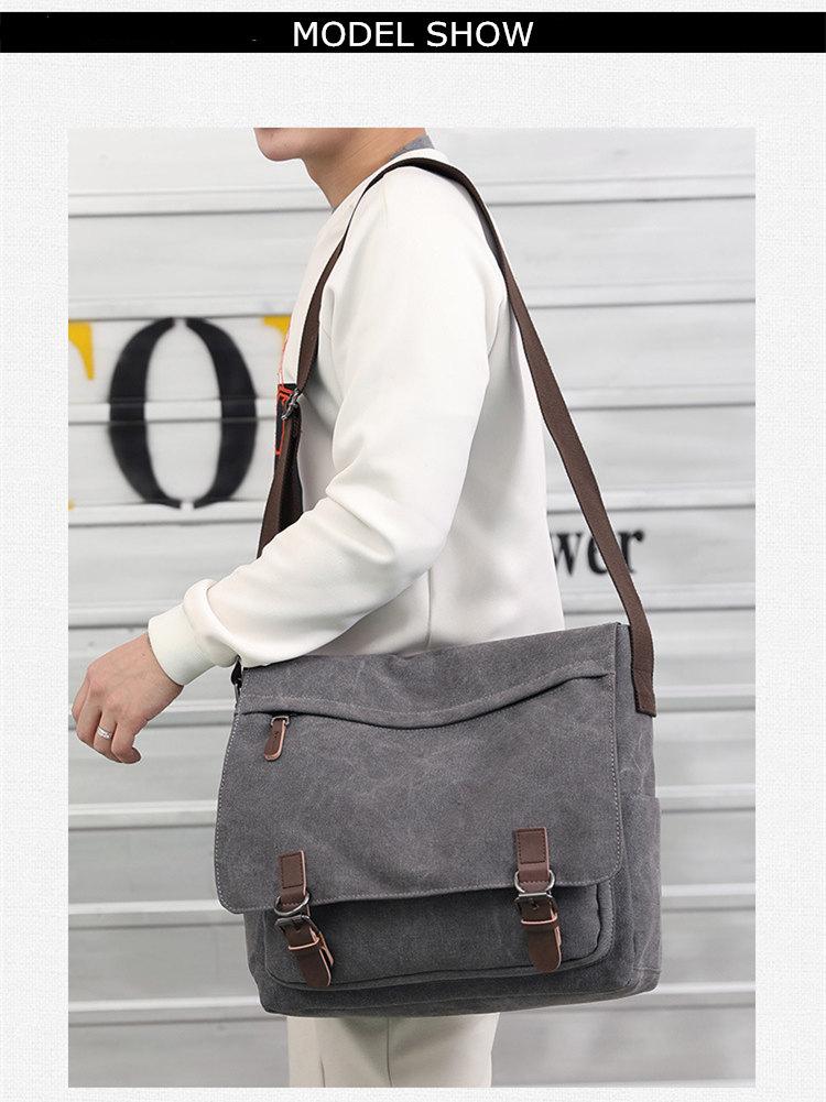 Micom Canvas Men Messenger Bags Vintage Shoulder Belt Bag Large Capacity Business Travel Bag Men\`s Canvas Crossbody Handbag New (4)