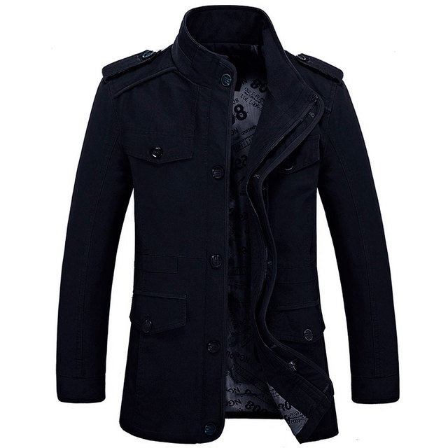 Plus size S-6XL 2019 New Arrival Men's Fashion Jackets Casual Spring Autumn Jacket Cotton Stand Collar Military Coat 3 Colors