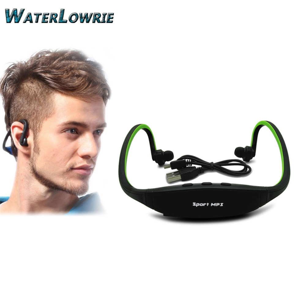 Waterlowrie Sport MP3 Player Portable Music Running Headphone <font><b>Earphone</b></font> Headset Support TF Card MP3 Music Player New Sports MP3