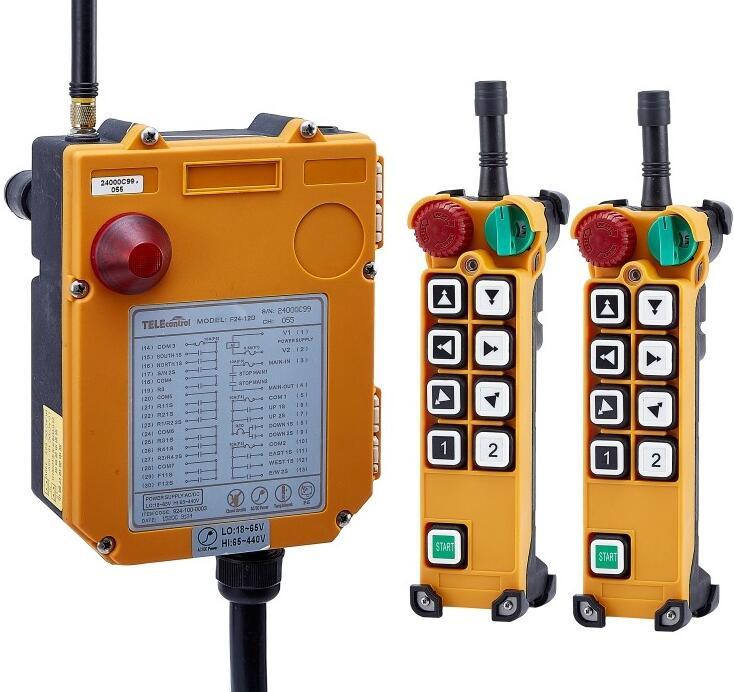 TELECRANE Sans Fil Industrielle Télécommande Palan Électrique Télécommande 2 Émetteur + 1 Récepteur F24-8D