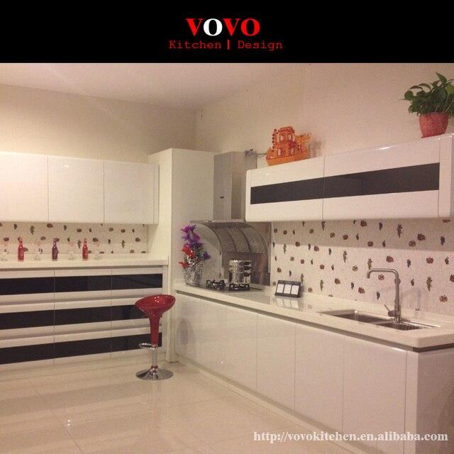 Neue design design hochglanz lackiert küchenschränke weiße farbe ...