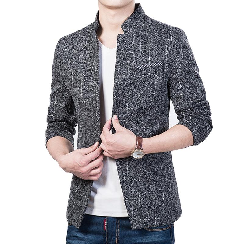 2017 Herbst Kausal Männer Blazer Einreiher England Design Blazer Anzüge Slim Fit Outwear M-5xl Ayg125