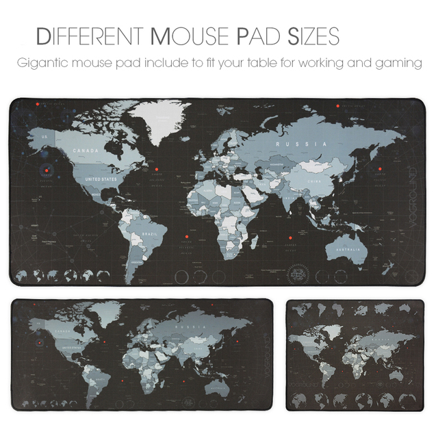 Gaming Mouse Pad Large Mouse Pad Gamer Big Mouse Mat Computer Mousepad Rubber World Map Mause Pad Game Keyboard Desk Mat