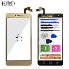 5.5 szkło ekranu dotykowego telefonu dla Xiaomi Redmi Note 4X panel digitizera przednie szkło dotykowe ekran czujnik ekranu dotykowego klej