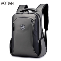 AOTIAN High quality Men Travel Backpack Teenager Male Back Bag USB Charging 15.6 inch Laptop Backpack Nylon oxford Waterproof