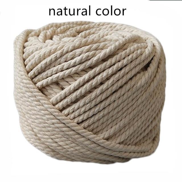 86ad58f46eaf3 Natural cordão de algodão Branco fio de Algodão grosso saco de corda de  algodão handmade DIY