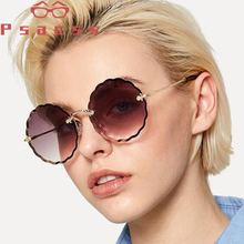 лучшая цена Psacss 2019 Round Sunglasses For Women Vintage Ocean Lens luxury Brand Designer Female Sun Glasses oculos de sol feminino UV400