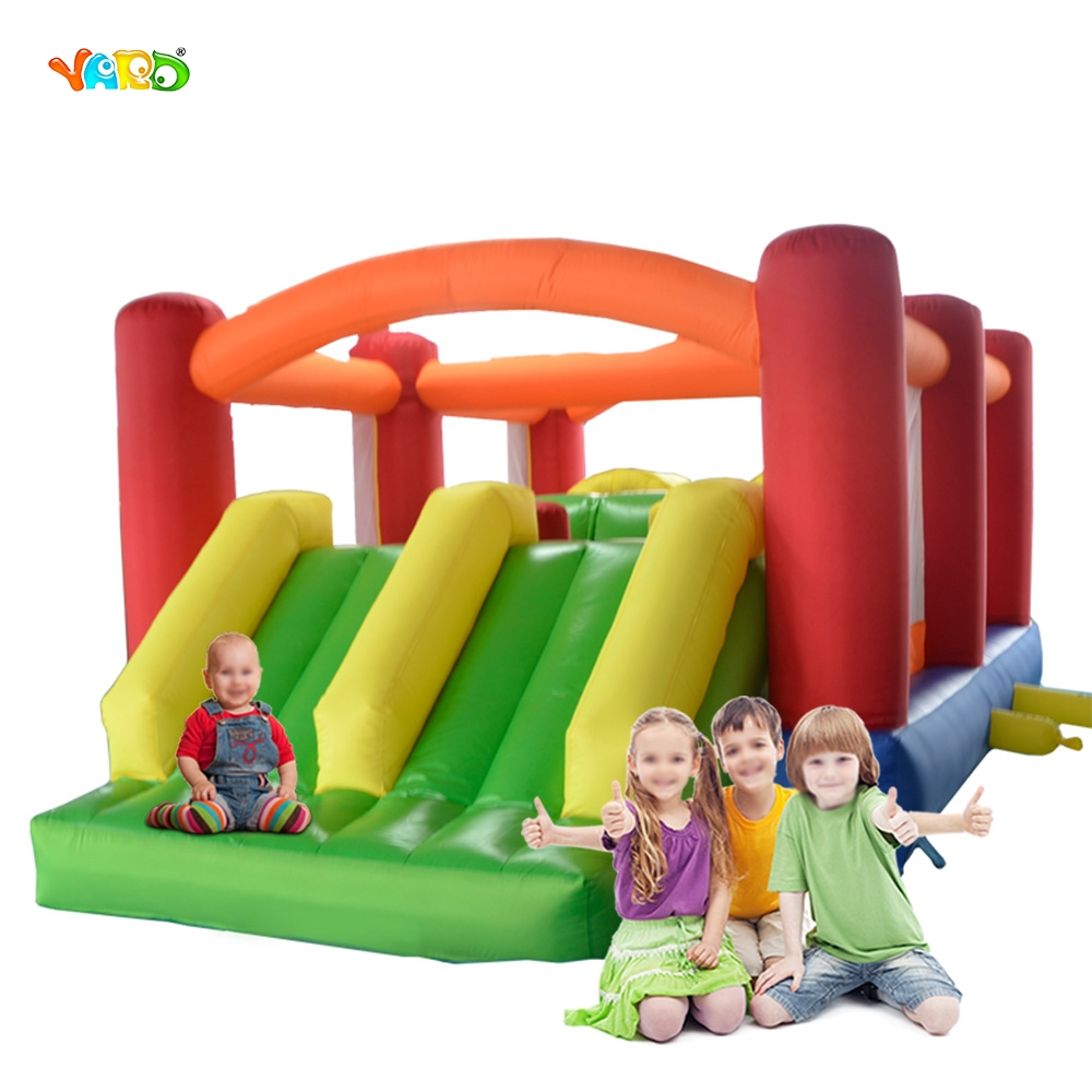 YARD Obstacle Couse 6 in 1 Inflatable Toys Double Slide Bounce House Outdoor Trampoline Combo Special Offer for Middle East yard outdoor game bounce house with inflatable slide ball pit home use kids jumper special offer for european countries