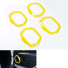 ABS Matt Inside Door Stereo Speaker Frame Cover Trim Decoration for Renegade 2015 2016 Car Styling Car-covers