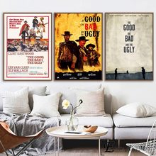 The Good Bad And Ugly Painting Poster Print Decorative Wall Pictures For Living Room No Frame Home Decoration
