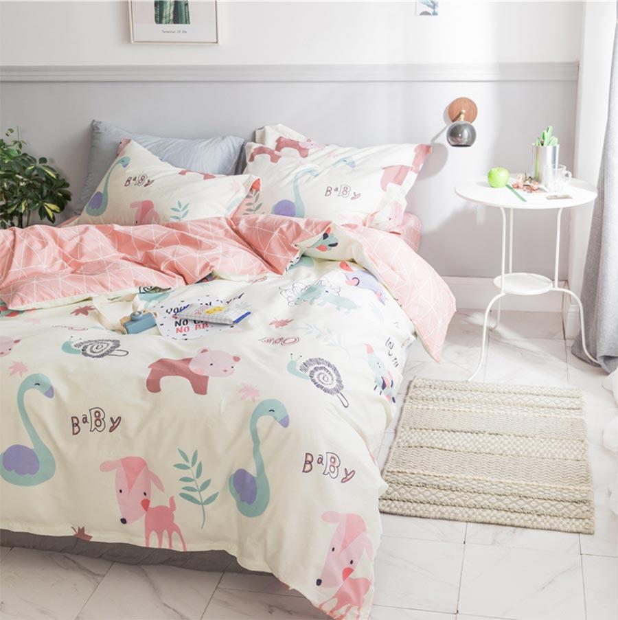 cartoon single double bedding set adult teen childtwin
