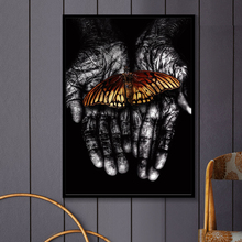 Butterfly Wall Pictures For Living Room Black Hand Nordic Poster Art Canvas Painting Prints Picture Home Decor Unframed