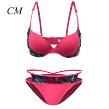 Clearance ! 2017 Bra Set Underwear Women Push Up Sexy Bra Set Lace Bra Sexy Lingerie Bra 34 36 38 A/B Cup Free Shipping