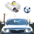 2PCS T10 168 W5W Error Free 5630 Led with Projector Lens Light Source Parking For Skoda superb octavia a7 a 5 2 fabia rapid yeti