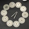 10pcs 30mm Diamond Cutting Discs Cut Off Blade Drill Bit for Dremel Rotary Tool Abrasive Disc dremel accessories disco de corte