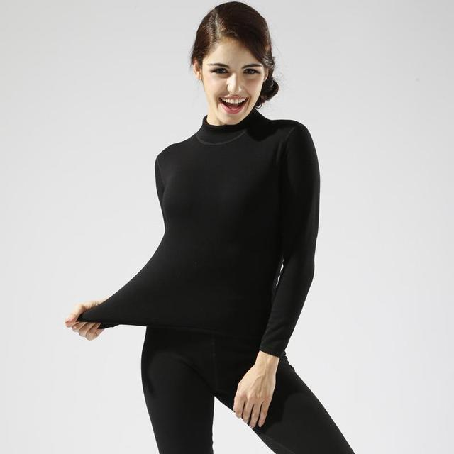 ee583c26a5d3 Plus Size M-XXL Women winter thermal underwear suit thick velvet ladies  thermal underwear women clothing female long johns