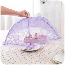 Удобные и полезные крышки для еды стильный зонт Против мух Москитная мука покрытие стола сетка пищевая крышка кухонные инструменты для приготовления пищи