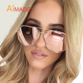 Aimade 2016 New Women Hexagon Aviation Sunglasses Superstar Men Brand Designer Stylish Pilot Pink Mirror Sun Glasses Lady UV400