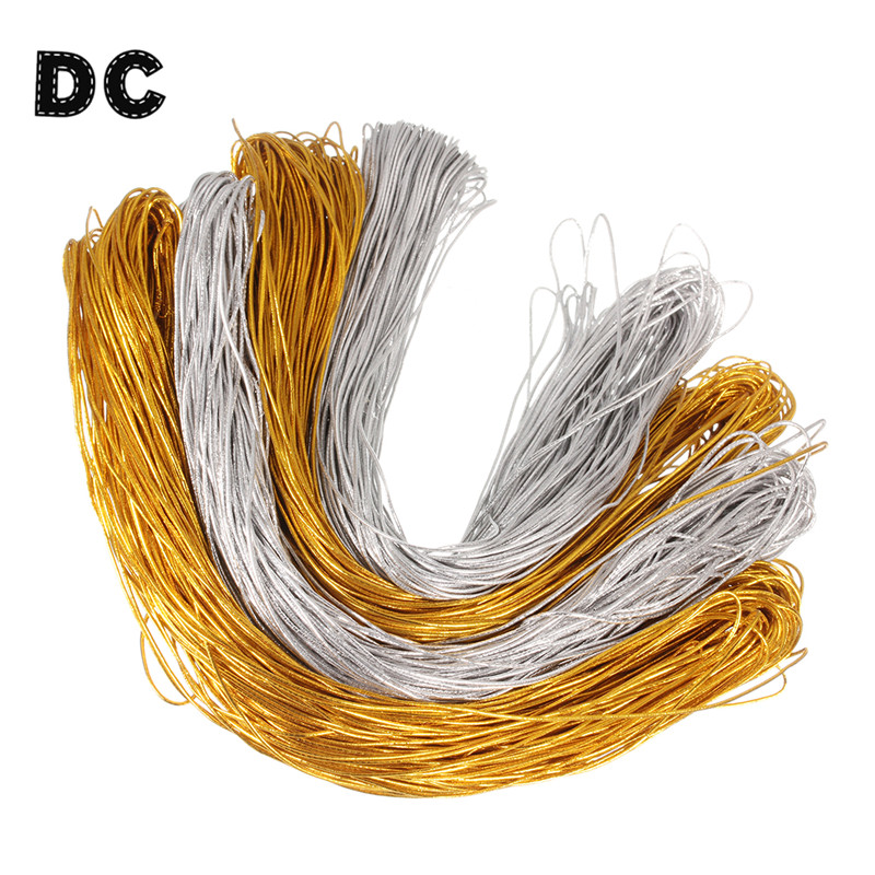 Dc 50 Meter Gold Silver Color Elastic Stretch Cords