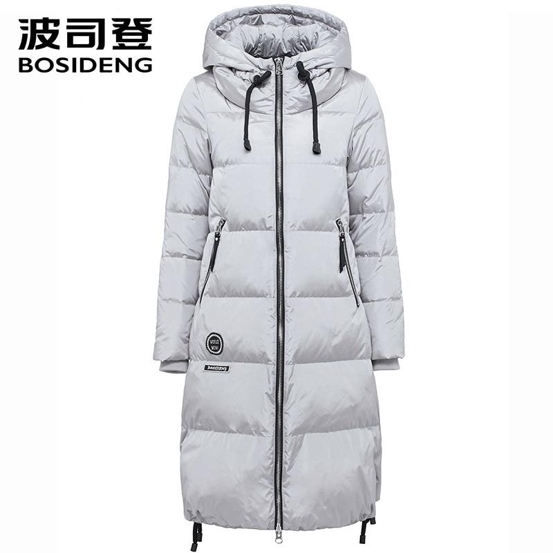 BOSIDENG women's clothing winter thick down coat X long down jacket women thick warm coat outwear with hooded B1601332