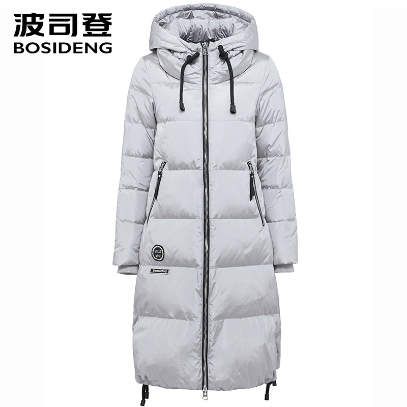 BOSIDENG women's clothing winter thick down coat X-long down jacket women thick warm coat outwear with hooded B1601332 new men women winnter brand natural down coat thick feather padded outdoor jacket man hooded warm primaloft outwear