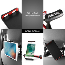 Alloy Car Back Seat Phone Tablet Holder Adjustable 4-11 inch Phone Tablet Stand Bracket Mount Universal for iPad iPhone Tablet car back seat holder for 4 to 11 inch phone tablet holder 360 degree rotating tablet car holder for ipad iphone tablet stands